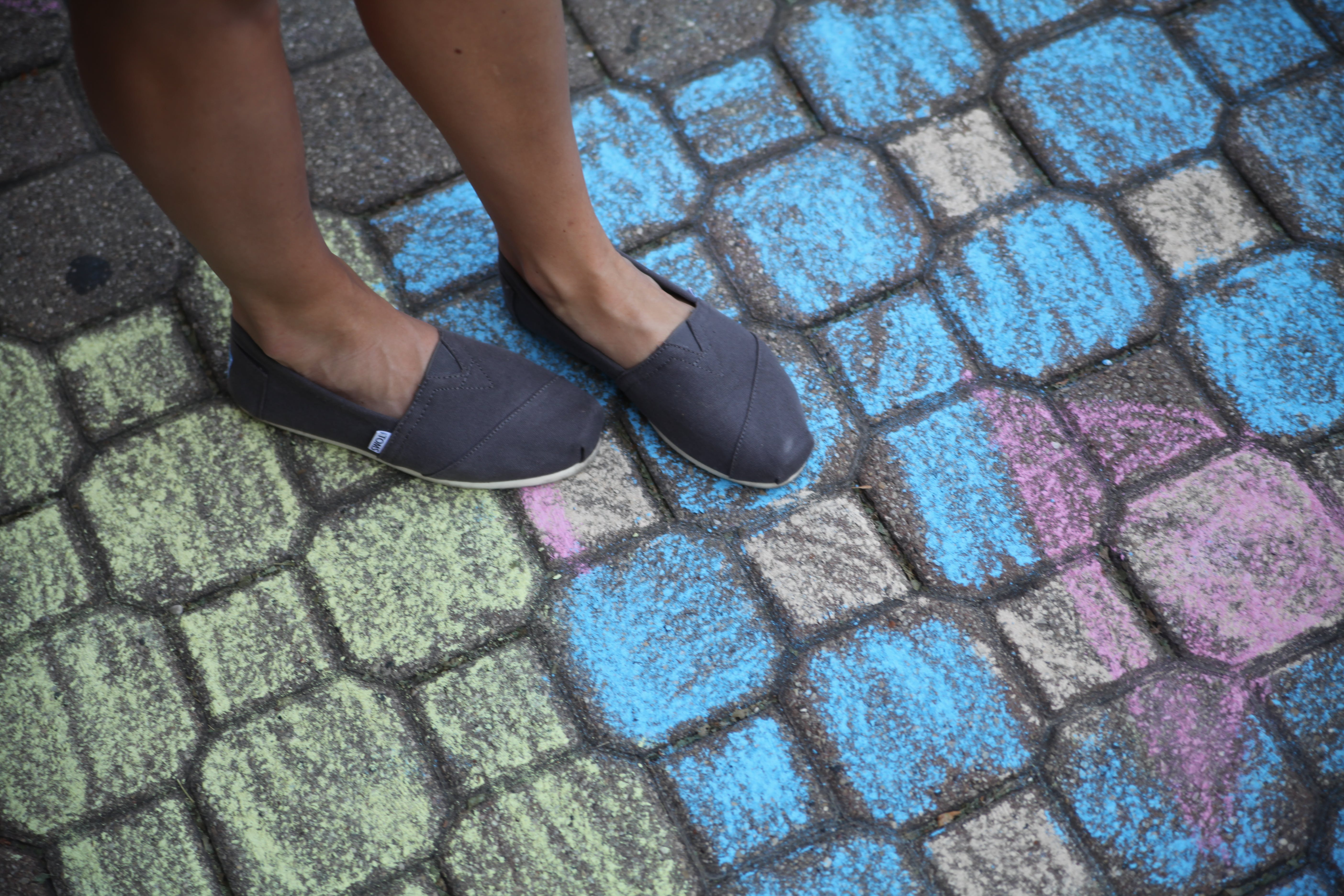 Person Wearing Blue Flat Shoes