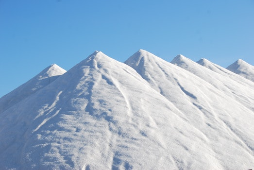 Snow Covered Mountain Under Blue Sky at Daytime