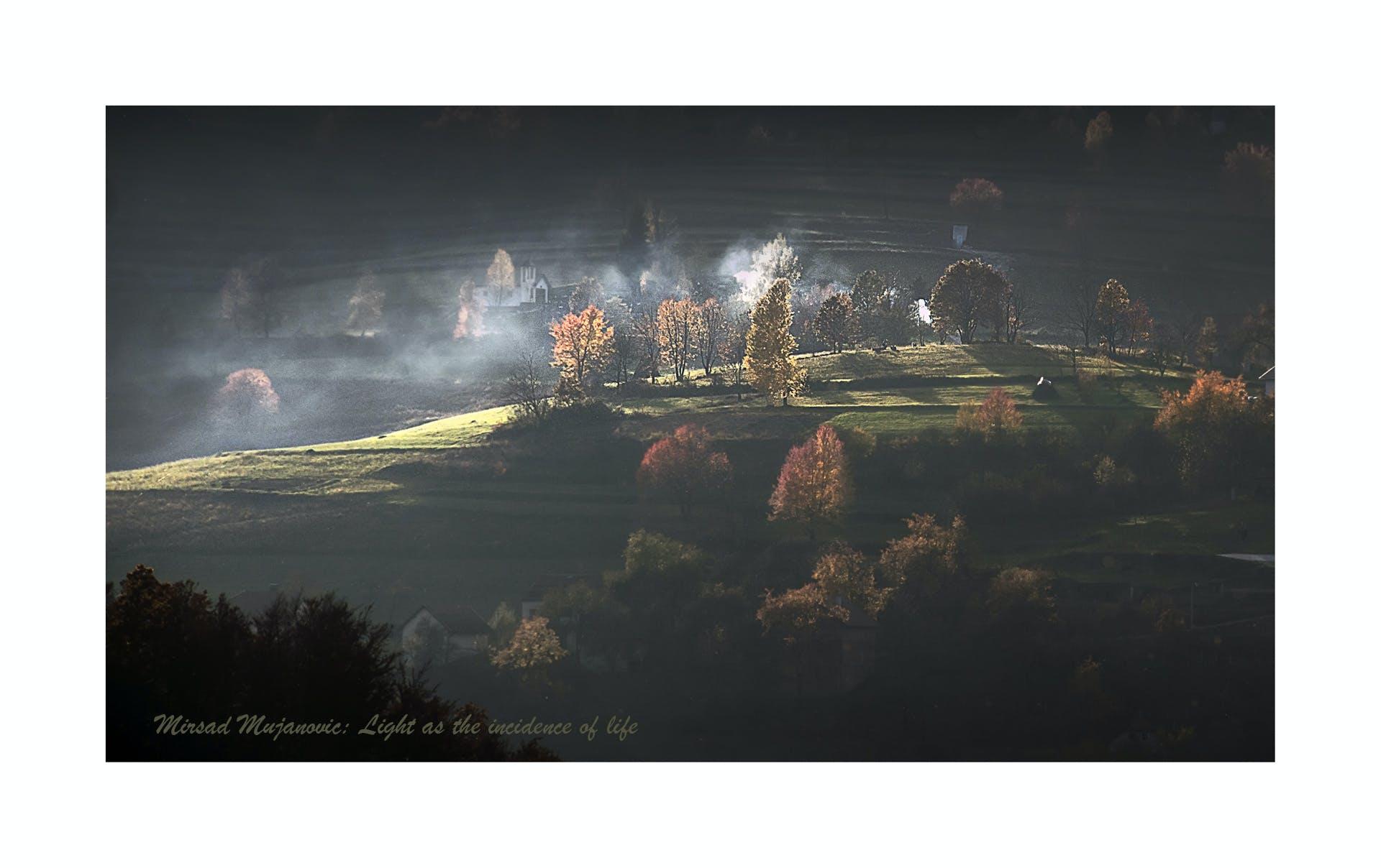 Free stock photo of mountain, backlight, sunrays