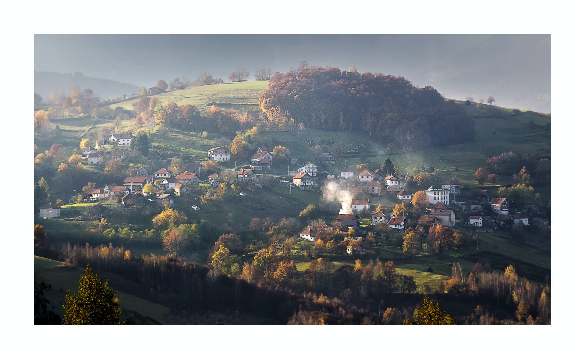 Free stock photo of back light, Bosnian village