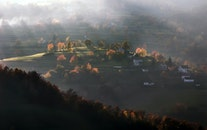 landscape, nature, houses