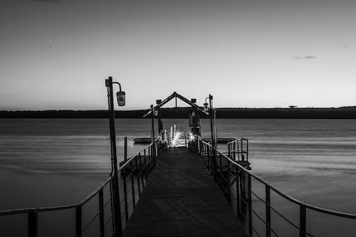 ビーチ, ブリッジ, 光の無料の写真素材