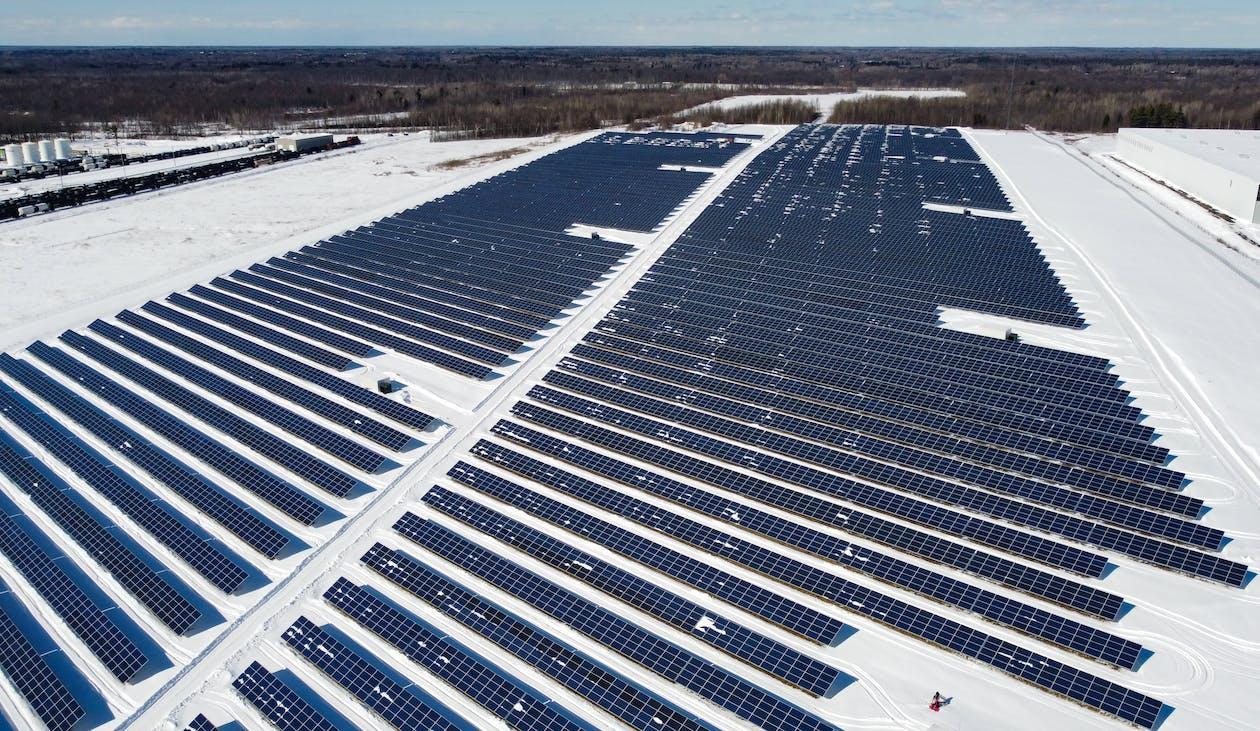 White and Black Solar Panels