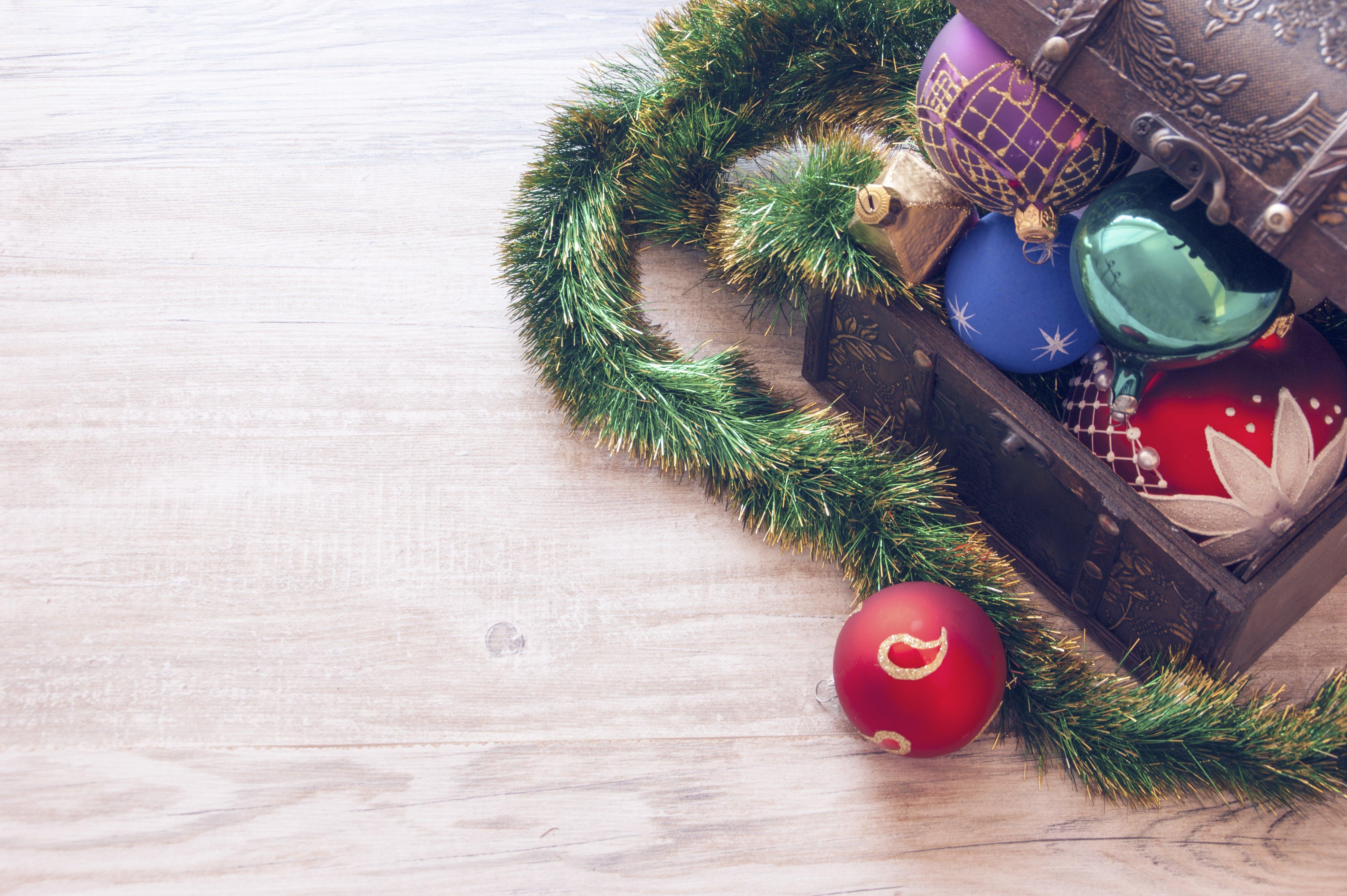 Closeup Photo of Christmas Decors