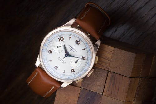 Foto stok gratis arloji antik, Jam tangan analog, jam tangan emas, jam tangan vintage