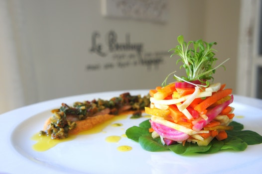 Vegetable Salad on White Plate