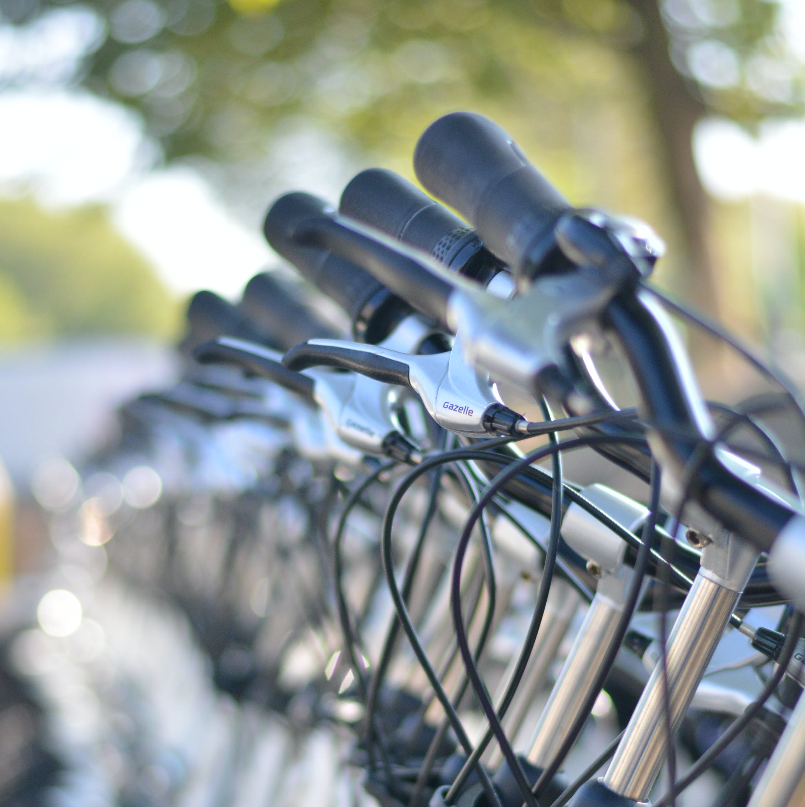 Gray and Black Bicycles during Daytime