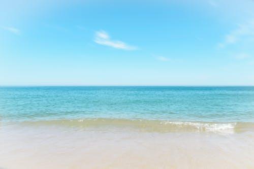 Foto d'estoc gratuïta de acomiadar-se, cel, costa oceànica, oceà