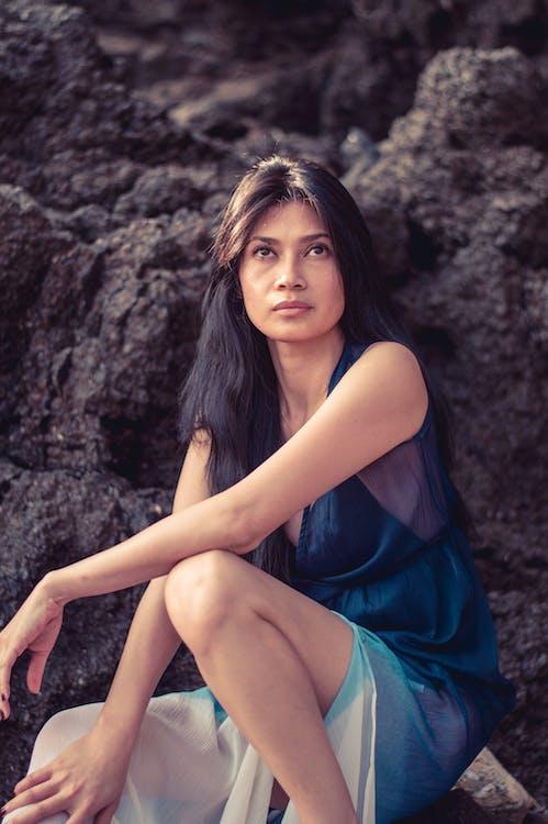 aantrekkelijk mooi, Aziatisch meisje, Aziatische vrouw