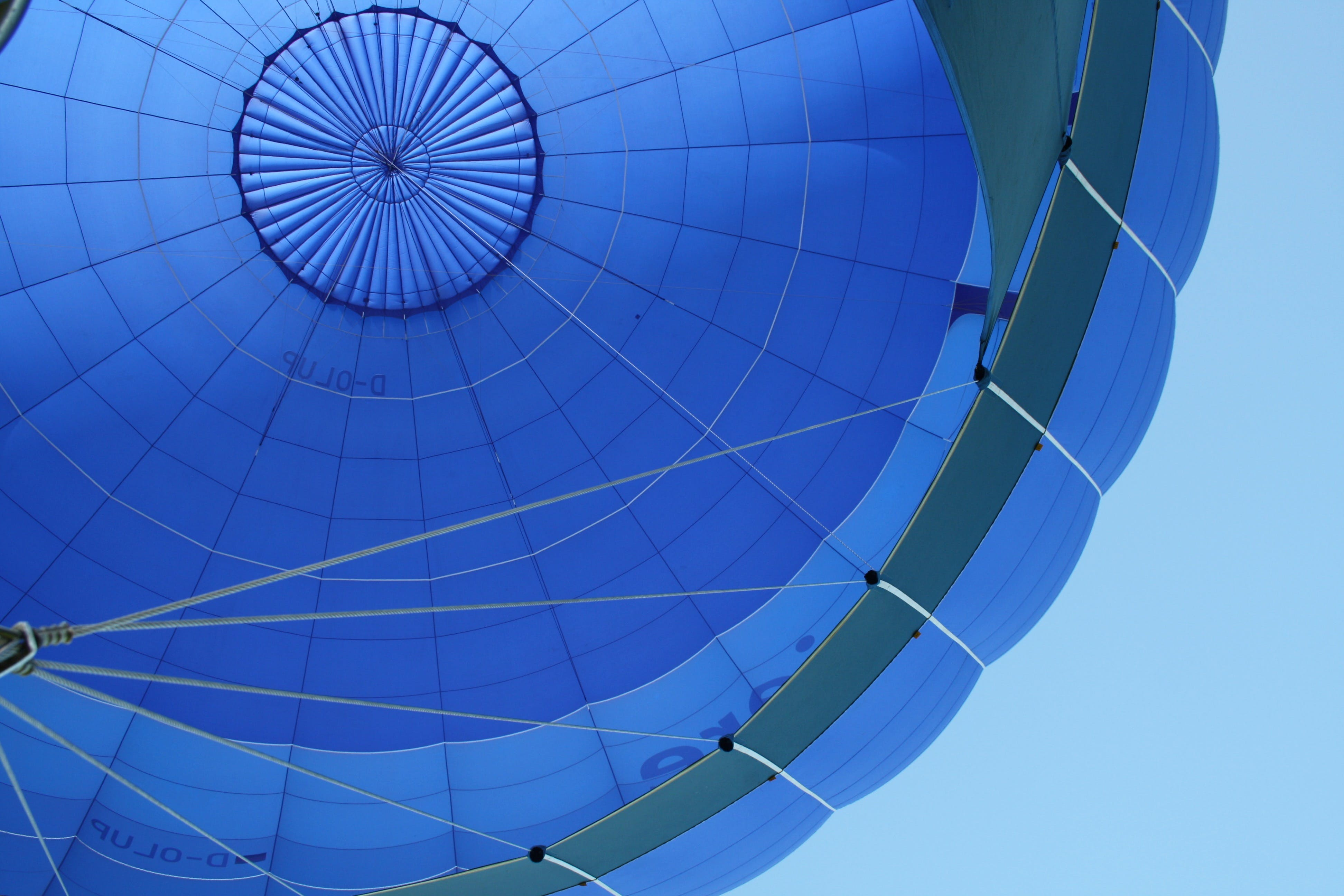 Blue and Gray Hot Air Balloon