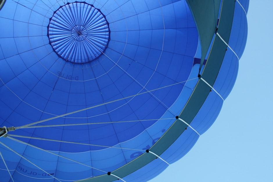Blue and Gray Hot Air Balloon