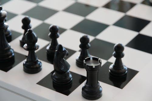 Základová fotografie zdarma na téma černobílá, desková hra, hra, šachy