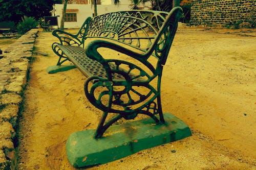 Free stock photo of bench, iron, public