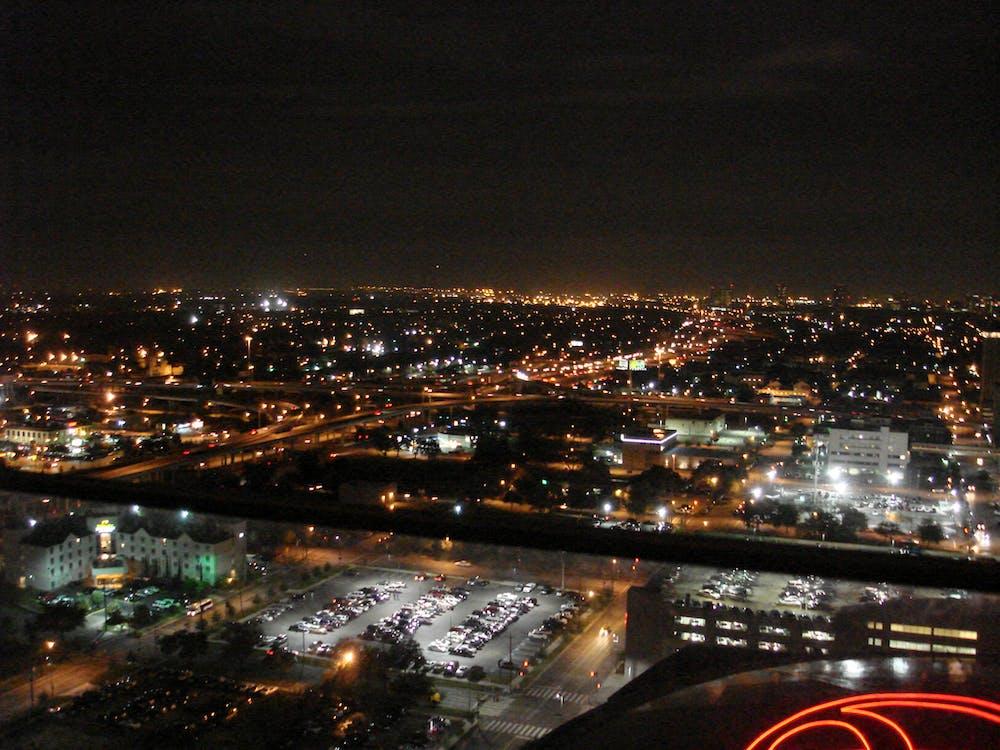 Free stock photo of houston at night