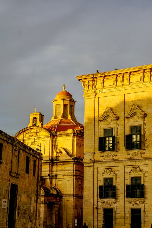 Free stock photo of architecture, castille square, golden hour