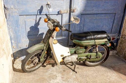 Free stock photo of motor scooter, old motor bike, old scooter
