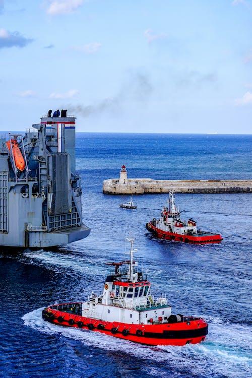 Free stock photo of boat, cargo ship, malta