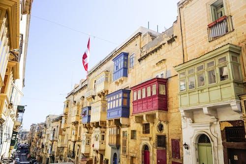 Free stock photo of malta, maltese balconies, valletta