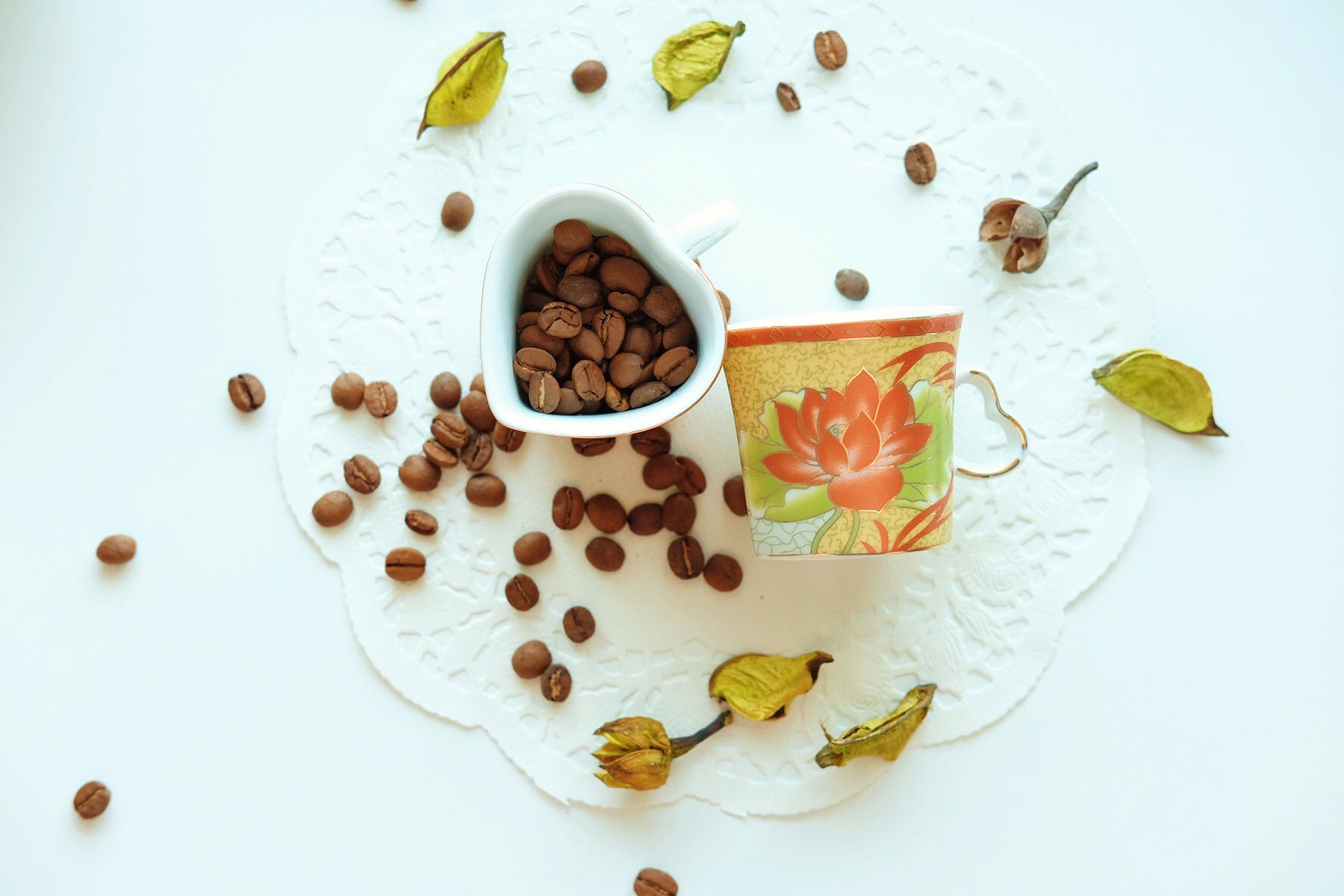 Brown Coffee Beans on White Ceramic Container