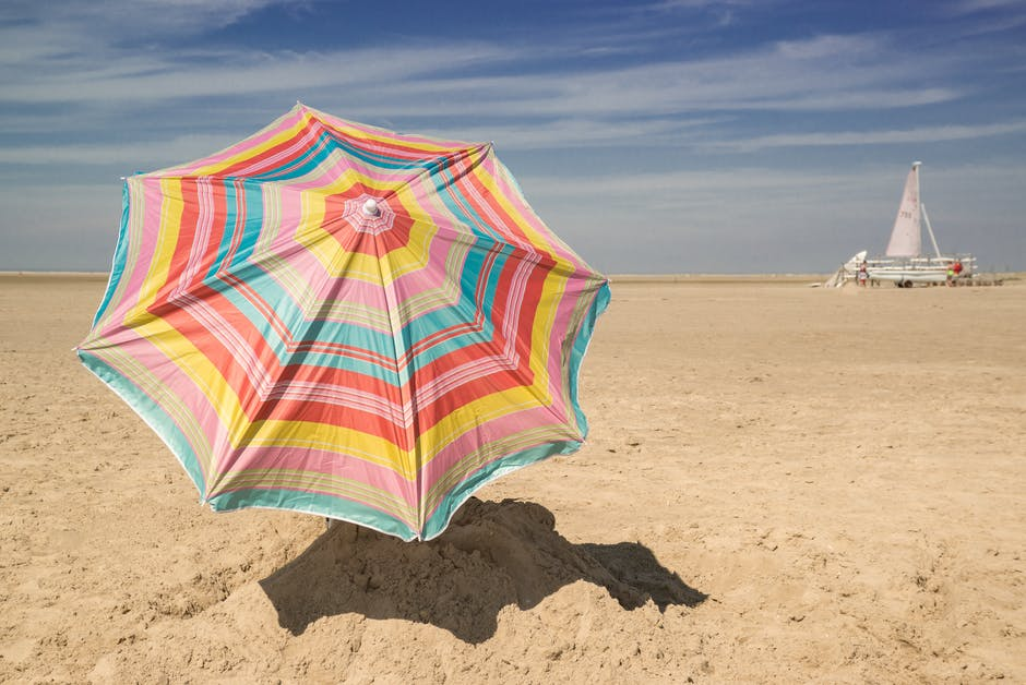 Patio Umbrella on Sand