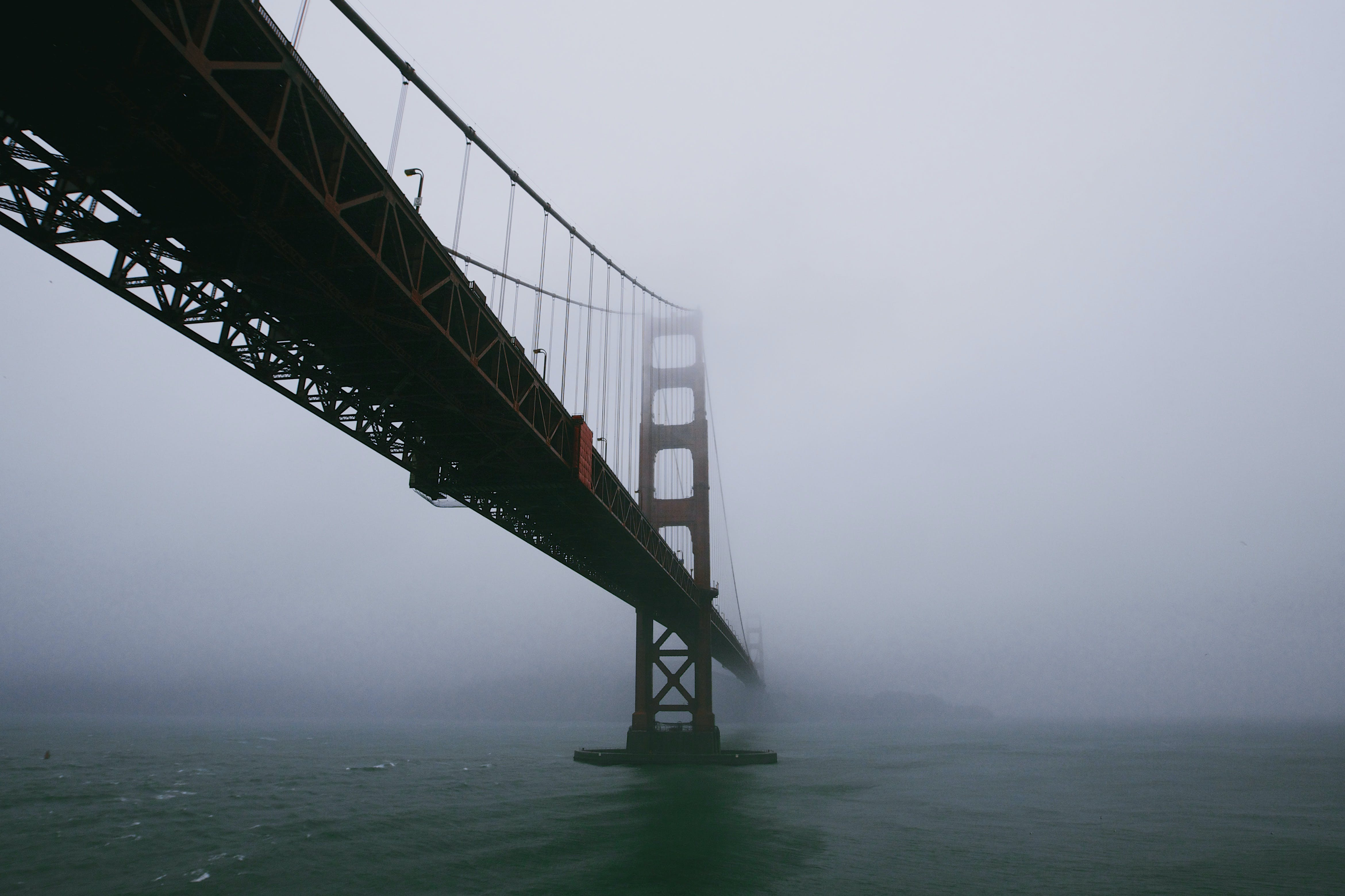 bridge, fog, golden gate bridge