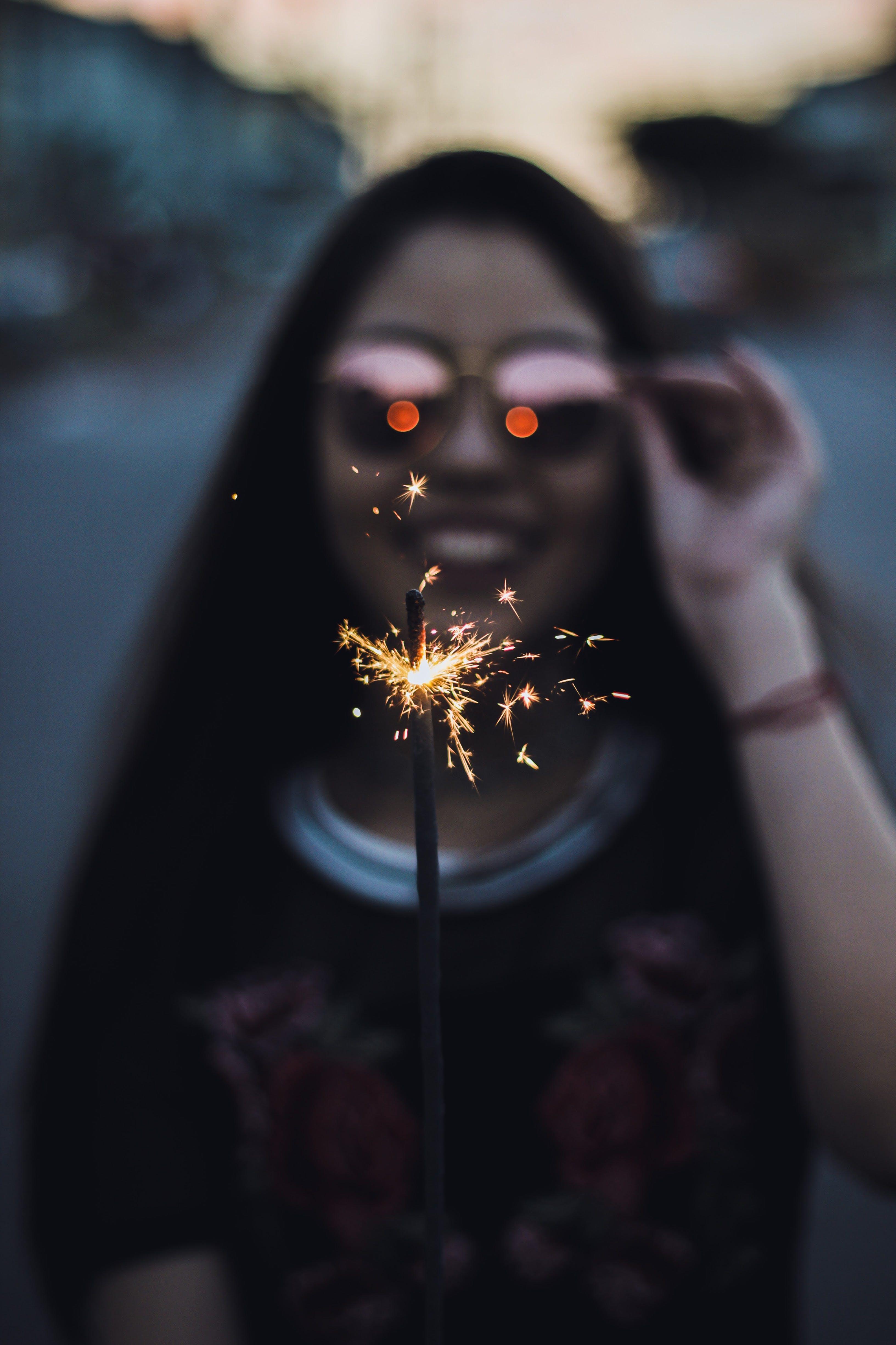 Macro Photography of Firework Stick