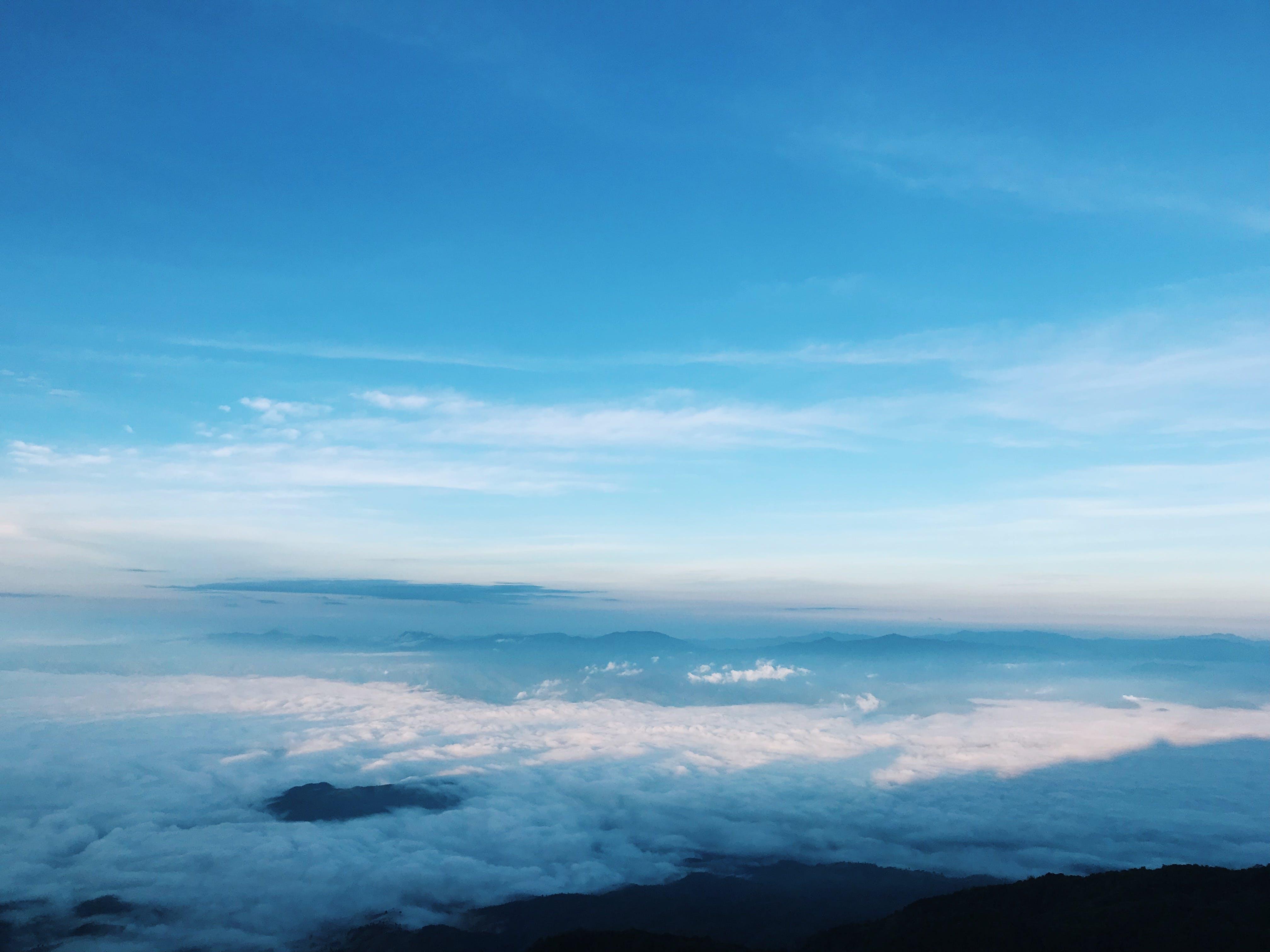 Foto stok gratis alam, awan, bentangan awan, berawan