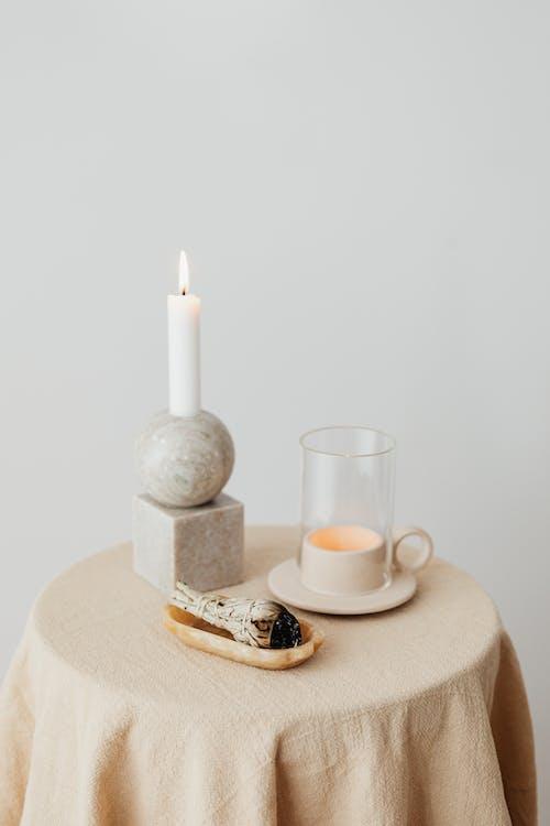 桌布, 芳香療法, 蠟燭 的 免費圖庫相片