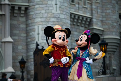 Mickey and Minnie Mouse Mascot