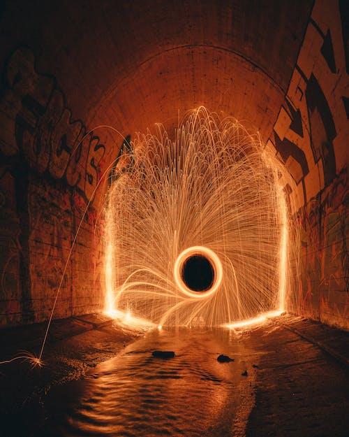 Fire performance in dark tunnel