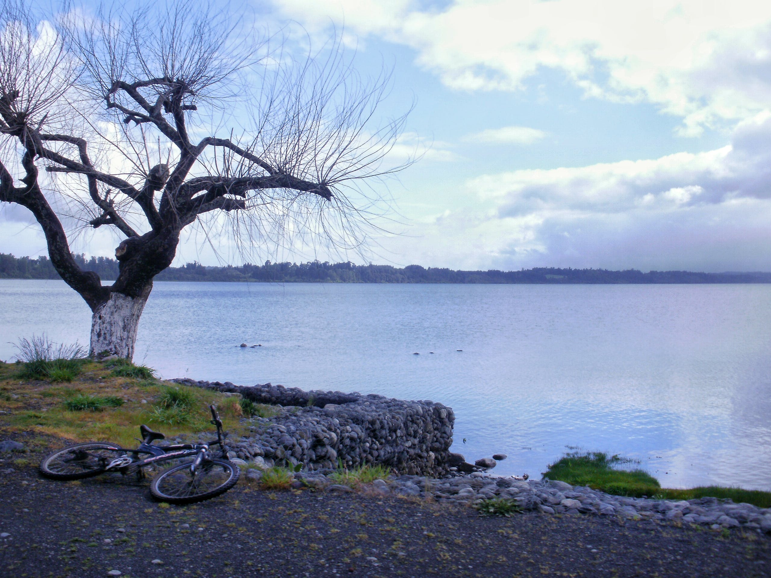 Free stock photo of bike, gravel, lake, rocks