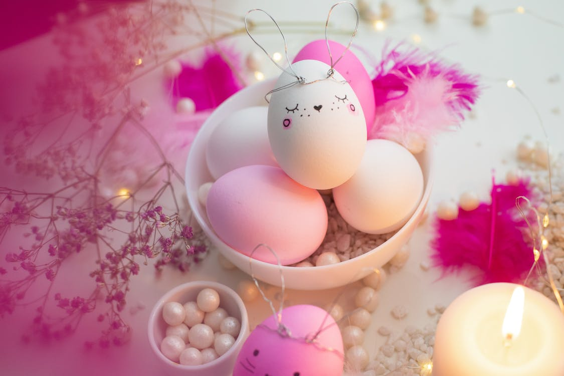 White And Pink Easter Bunny Eggs
