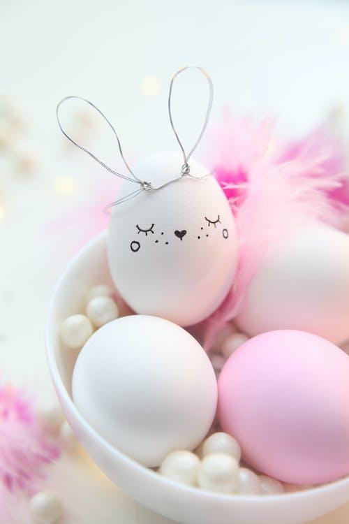 Easter Egg In A Bowl Of White Eggs
