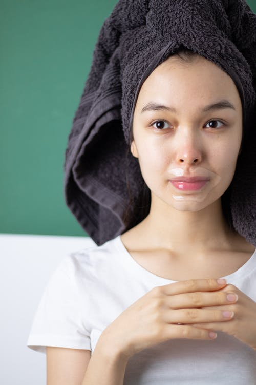 Woman With A Lip Mask