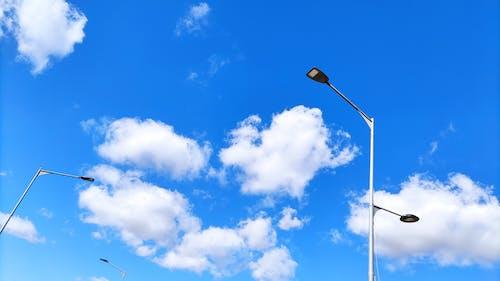 Free stock photo of beautiful sky, blue sky, city street