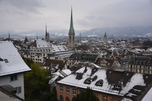 Free stock photo of buildings, church, city, mountain