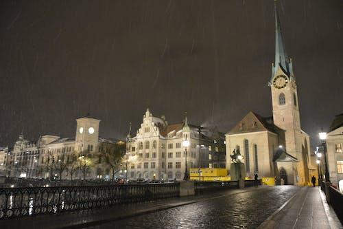 Free stock photo of building, church, city, night