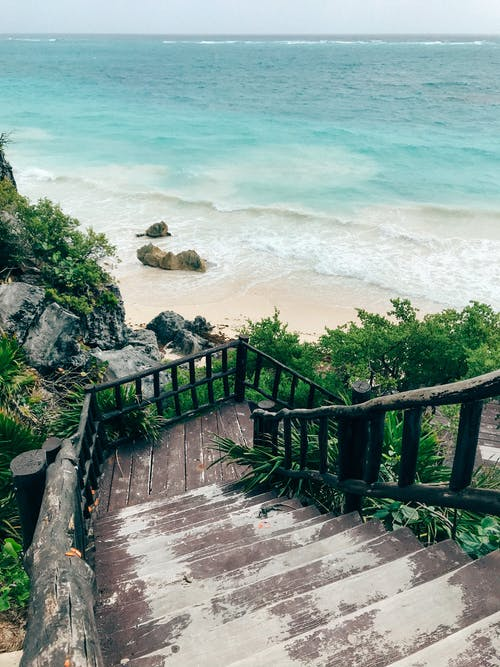 Photo of Wooden Stairs Towards The Beach