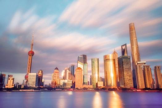 Free stock photo of 建筑, 上海, 外滩, 东方明珠