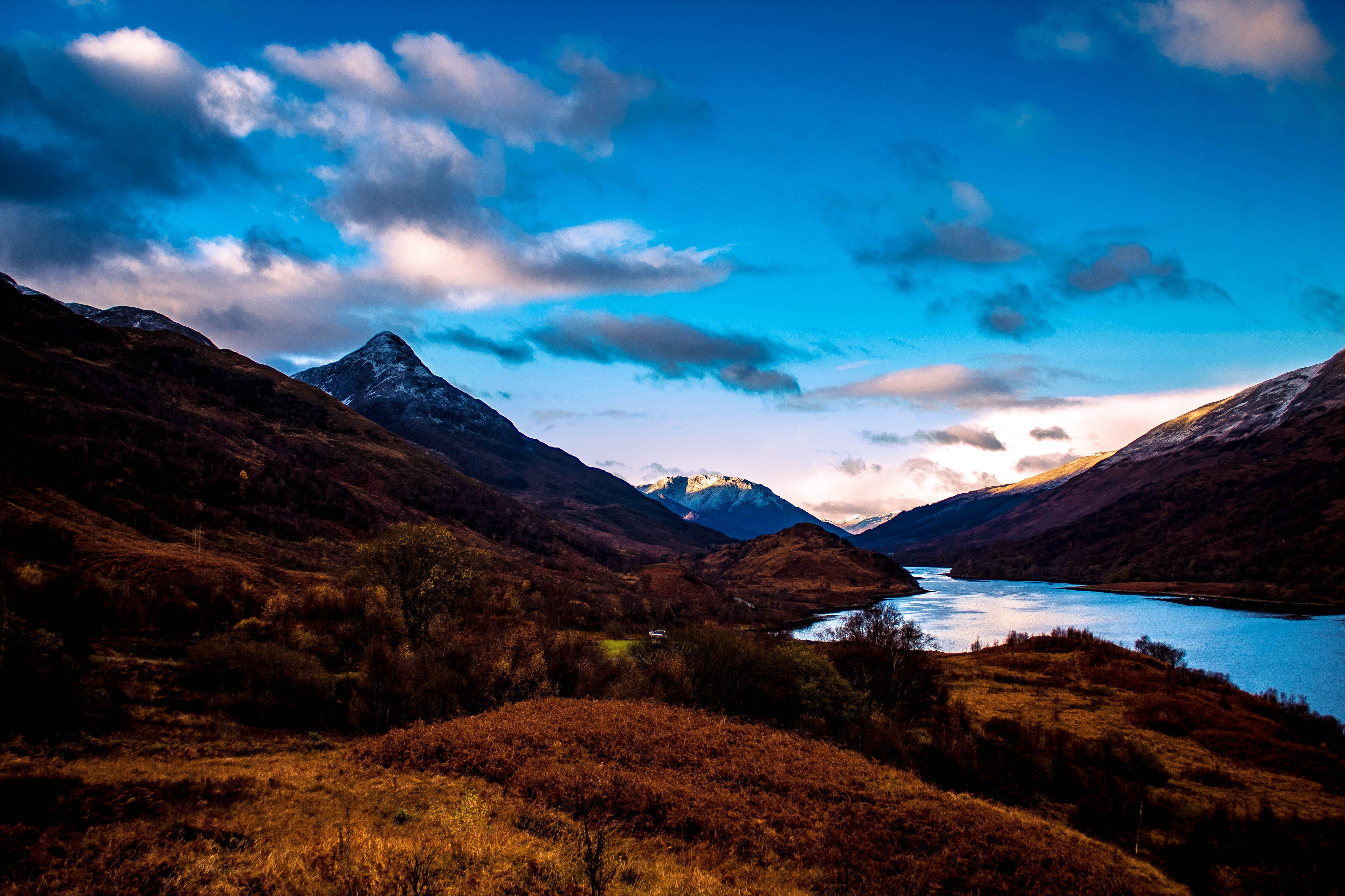 Free stock photo of hills, landscape, loch, mountain