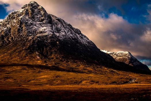 Panoramic Photography of Rock Mountain