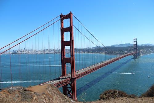 Kostenloses Stock Foto zu brücke, golden gate bridge, ozean