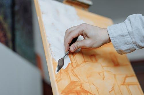 Základová fotografie zdarma na téma akryl, barva, brushstroke