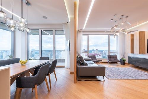 Foto profissional grátis de abajur, alojamento, apartamento