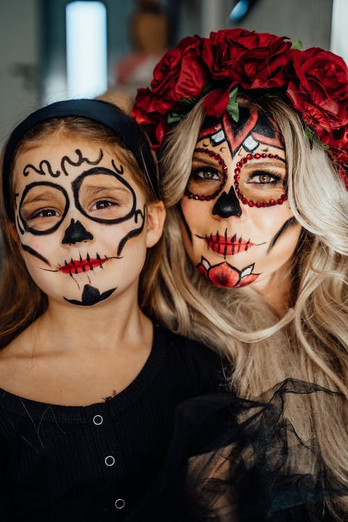 Mother and Daughter With Creative Makeup