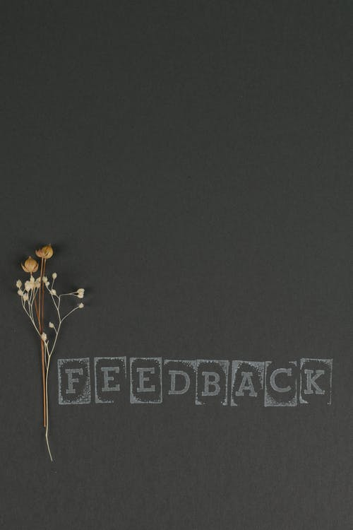 Text beside Dried Flower