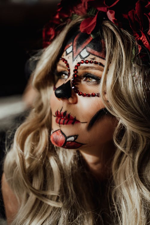 Woman in Halloween Make-up