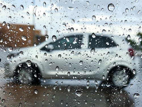Free stock photo of car, rain, window