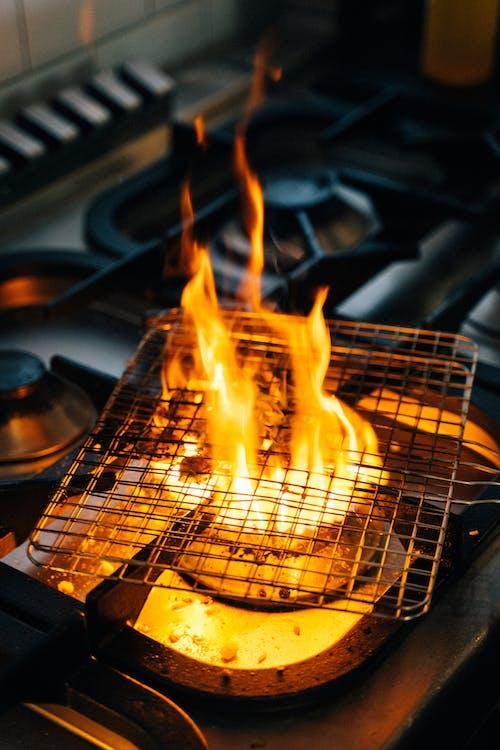 Close Up Photo of Burning Charcoal