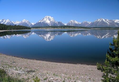 Fotobanka sbezplatnými fotkami na tému HD tapeta, hory, jazero, krajina